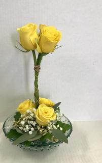 Yellow Rose Topiary