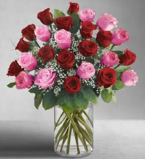 Ultimate Elegance™ Long Stem Pink & Red Roses