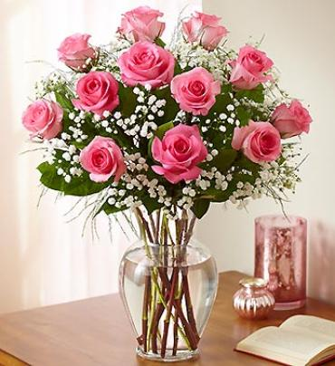 Rose Elegance??¢ Premium Long Stem Pink Roses
