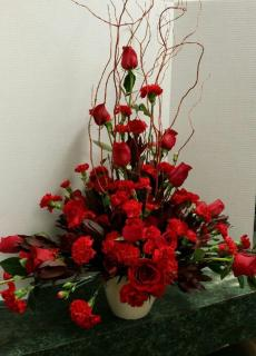 A Red on Red Arrangement