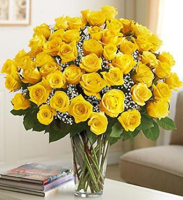 "Ultimate Eleganceâ""¢ Long Stem Yellow Roses"