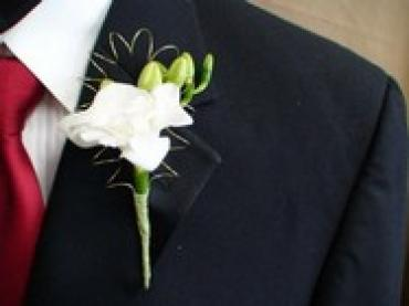 Framed Freesia Boutonniere