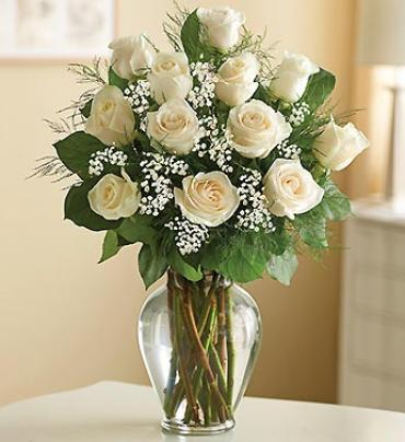 Rose Elegance??¢ Premium Long Stem White Roses